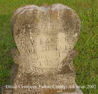 FULTON LANDERS, REBECCA JANE - Fulton County, Arkansas | REBECCA JANE FULTON LANDERS - Arkansas Gravestone Photos