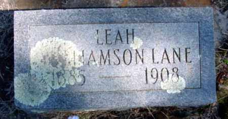 LANE, LEAH WILLIAMSON - Fulton County, Arkansas | LEAH WILLIAMSON LANE - Arkansas Gravestone Photos