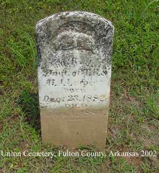 LARGENT, M. R. J. - Fulton County, Arkansas | M. R. J. LARGENT - Arkansas Gravestone Photos