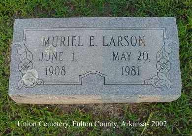 LARSON, MURIEL E. - Fulton County, Arkansas | MURIEL E. LARSON - Arkansas Gravestone Photos