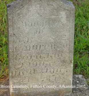 LAWRENCE, INFANT DAUGHTER - Fulton County, Arkansas | INFANT DAUGHTER LAWRENCE - Arkansas Gravestone Photos