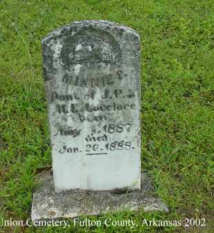 LOVELACE, MINNIE P. - Fulton County, Arkansas | MINNIE P. LOVELACE - Arkansas Gravestone Photos