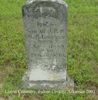LOVELACE, WILLIAM S. - Fulton County, Arkansas | WILLIAM S. LOVELACE - Arkansas Gravestone Photos