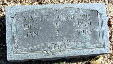 LUNSFORD, MATTIE - Fulton County, Arkansas | MATTIE LUNSFORD - Arkansas Gravestone Photos