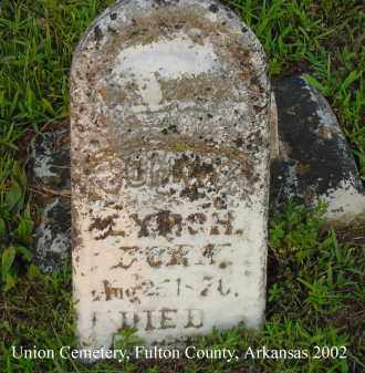 "LYNCH, JOHN W. ""JOHNNY"" - Fulton County, Arkansas 