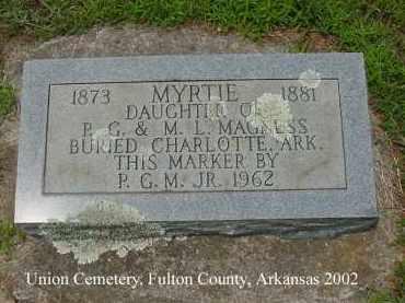 MAGNESS, MYRTIE - Fulton County, Arkansas | MYRTIE MAGNESS - Arkansas Gravestone Photos