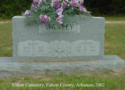 MANLEY, MAUD - Fulton County, Arkansas | MAUD MANLEY - Arkansas Gravestone Photos