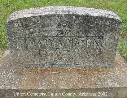 MASON, MARY A. - Fulton County, Arkansas | MARY A. MASON - Arkansas Gravestone Photos