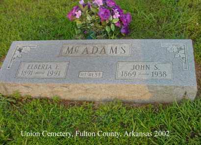 MC ADAMS, ELBERTA F. - Fulton County, Arkansas | ELBERTA F. MC ADAMS - Arkansas Gravestone Photos