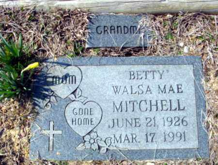 "MITCHELL, WALSA MAE ""BETTY"" - Fulton County, Arkansas 