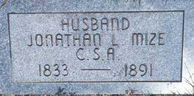 MIZE (VETERAN CSA), JONATHAN L. - Fulton County, Arkansas | JONATHAN L. MIZE (VETERAN CSA) - Arkansas Gravestone Photos