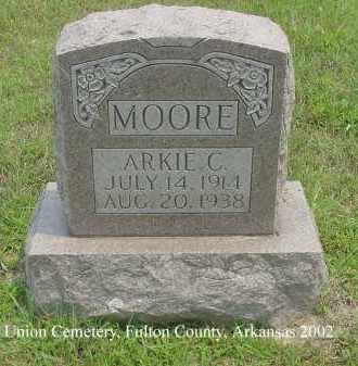 MOORE, ARKIE C. - Fulton County, Arkansas | ARKIE C. MOORE - Arkansas Gravestone Photos