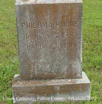 MOORE, PHILOMA - Fulton County, Arkansas | PHILOMA MOORE - Arkansas Gravestone Photos