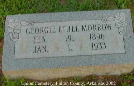 MORROW, GEORGIE ETHEL - Fulton County, Arkansas | GEORGIE ETHEL MORROW - Arkansas Gravestone Photos