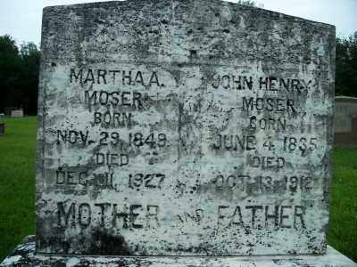 MOSER, MARTHA A. - Fulton County, Arkansas | MARTHA A. MOSER - Arkansas Gravestone Photos