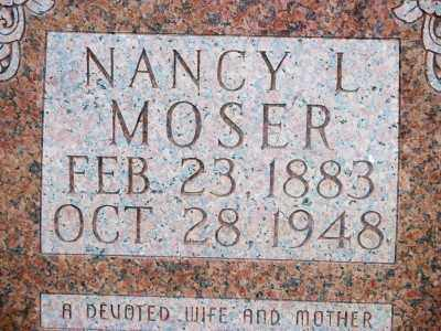 MONTGOMERY MOSER, NANCY LUCRETIA - Fulton County, Arkansas | NANCY LUCRETIA MONTGOMERY MOSER - Arkansas Gravestone Photos