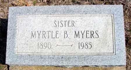 MYERS, MYRTLE B. - Fulton County, Arkansas | MYRTLE B. MYERS - Arkansas Gravestone Photos