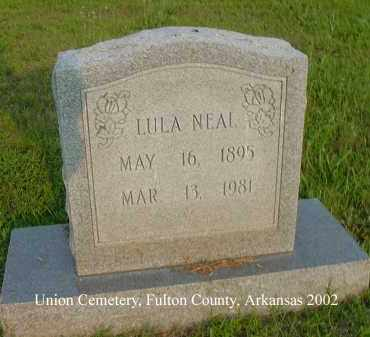 NEAL, LULA - Fulton County, Arkansas | LULA NEAL - Arkansas Gravestone Photos