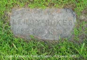 NOKES, LEROY - Fulton County, Arkansas | LEROY NOKES - Arkansas Gravestone Photos