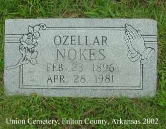 NOKES, OZELLAR - Fulton County, Arkansas | OZELLAR NOKES - Arkansas Gravestone Photos