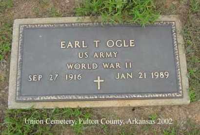 OGLE  (VETERAN WWII), EARL T - Fulton County, Arkansas | EARL T OGLE  (VETERAN WWII) - Arkansas Gravestone Photos