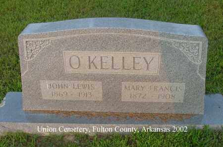 O'KELLEY, JOHN LEWIS MESSER - Fulton County, Arkansas | JOHN LEWIS MESSER O'KELLEY - Arkansas Gravestone Photos