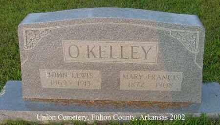 MILLER O'KELLY, MARY FRANCIS - Fulton County, Arkansas | MARY FRANCIS MILLER O'KELLY - Arkansas Gravestone Photos