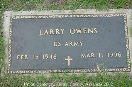 OWENS  (VETERAN), LARRY - Fulton County, Arkansas | LARRY OWENS  (VETERAN) - Arkansas Gravestone Photos