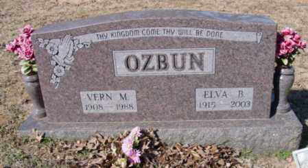 OZBUN, ELVA B. - Fulton County, Arkansas | ELVA B. OZBUN - Arkansas Gravestone Photos