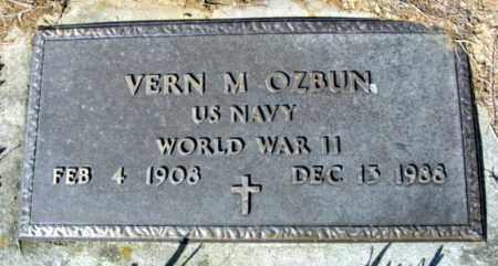 OZBUN (VETERAN WWII), VERN M - Fulton County, Arkansas | VERN M OZBUN (VETERAN WWII) - Arkansas Gravestone Photos