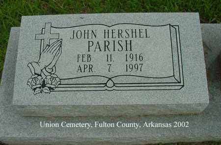 PARISH, JOHN HERSHEL - Fulton County, Arkansas | JOHN HERSHEL PARISH - Arkansas Gravestone Photos