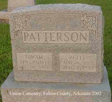 PATTERSON, HIRAM - Fulton County, Arkansas | HIRAM PATTERSON - Arkansas Gravestone Photos
