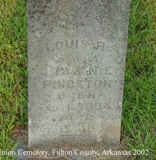 PINKSTON, LOUIS R. - Fulton County, Arkansas | LOUIS R. PINKSTON - Arkansas Gravestone Photos