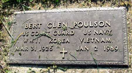 POULSON  (VETERAN 3 WARS), BERT GLEN - Fulton County, Arkansas | BERT GLEN POULSON  (VETERAN 3 WARS) - Arkansas Gravestone Photos