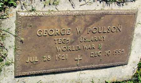 POULSON (VETERAN WWII), GEORGE W - Fulton County, Arkansas | GEORGE W POULSON (VETERAN WWII) - Arkansas Gravestone Photos