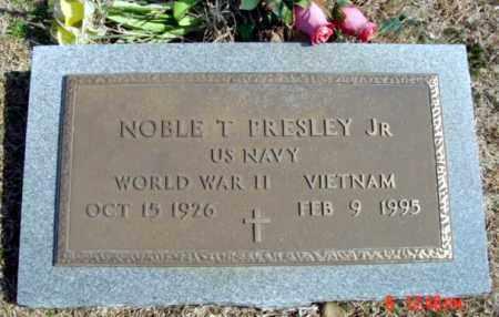PRESLEY, JR (VETERAN 2 WARS), NOBLE T - Fulton County, Arkansas | NOBLE T PRESLEY, JR (VETERAN 2 WARS) - Arkansas Gravestone Photos