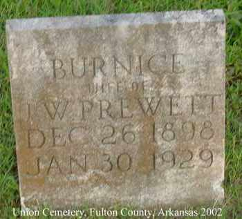 PREWETT, BURNICE - Fulton County, Arkansas | BURNICE PREWETT - Arkansas Gravestone Photos