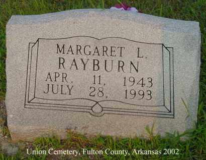 RABURN, MARGARET L. - Fulton County, Arkansas | MARGARET L. RABURN - Arkansas Gravestone Photos