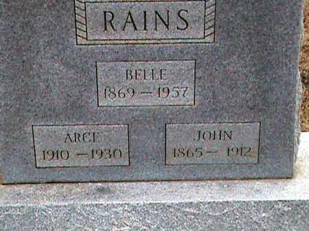 RAINS, ARCE - Fulton County, Arkansas | ARCE RAINS - Arkansas Gravestone Photos