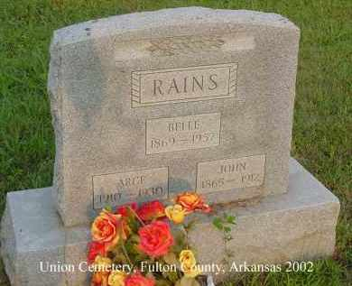 RAINS, JOHN - Fulton County, Arkansas | JOHN RAINS - Arkansas Gravestone Photos
