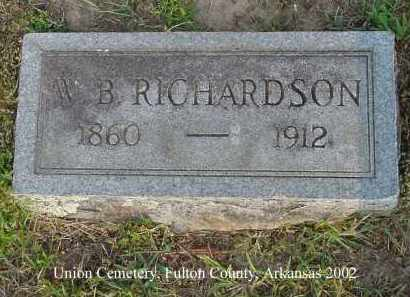 RICHARDSON, W. B. - Fulton County, Arkansas | W. B. RICHARDSON - Arkansas Gravestone Photos