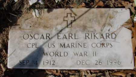 RIKARD (VETERAN WWII), OSCAR EARL - Fulton County, Arkansas | OSCAR EARL RIKARD (VETERAN WWII) - Arkansas Gravestone Photos