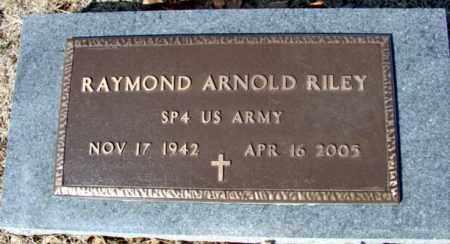 RILEY (VETERAN), RAYMOND ARNOLD - Fulton County, Arkansas | RAYMOND ARNOLD RILEY (VETERAN) - Arkansas Gravestone Photos