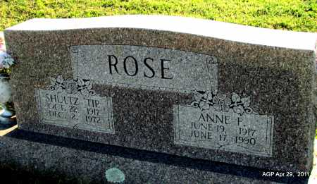 "ROSE, SHULTZ ""TIP"" - Fulton County, Arkansas 