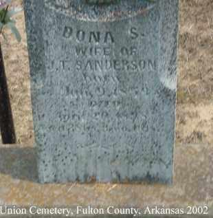 SANDERSON, DONA S. - Fulton County, Arkansas | DONA S. SANDERSON - Arkansas Gravestone Photos