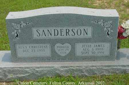 SANDERSON, JESSE JAMES - Fulton County, Arkansas | JESSE JAMES SANDERSON - Arkansas Gravestone Photos