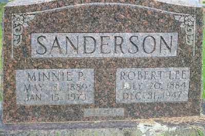 PORTERFIELD SANDERSON, MINNIE P. - Fulton County, Arkansas | MINNIE P. PORTERFIELD SANDERSON - Arkansas Gravestone Photos