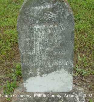 SEARS, HANNAH B. - Fulton County, Arkansas | HANNAH B. SEARS - Arkansas Gravestone Photos