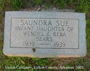 SEARS, SAUNDRA SUE - Fulton County, Arkansas | SAUNDRA SUE SEARS - Arkansas Gravestone Photos