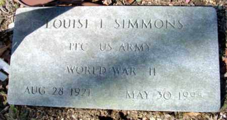 SIMMONS (VETERAN WWII), LOUISE L - Fulton County, Arkansas | LOUISE L SIMMONS (VETERAN WWII) - Arkansas Gravestone Photos